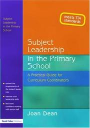 Cover of: Subject Leadership in the Primary School