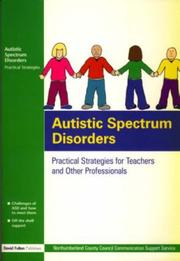 Cover of: Autistic Spectrum Disorders | Northumberland
