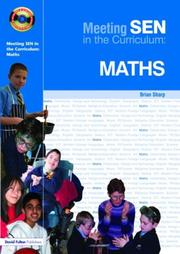 Cover of: Meeting Special Needs in Math (Meeting SEN in the Curriculum) | Brian Sharp