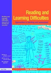 Cover of: Reading and Learning Difficulties