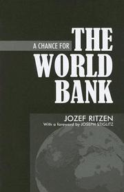Cover of: A chance for the World Bank