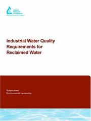 Cover of: Industrial Water Quality Requirements for Reclaimed Water (Awwa Research Foundation Reports) | D. Rommelmann