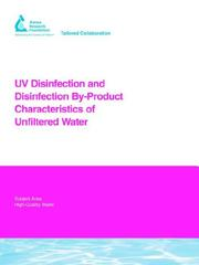Cover of: Uv Disinfection And Disinfection By-product Characteristics of Unfiltered Water | P. Wobma