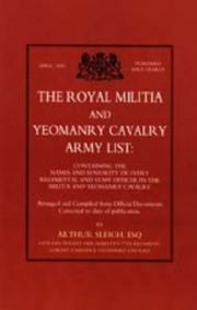 Cover of: Royal Militia And Yeomanry Cavalry Army List | Arthur Sleigh
