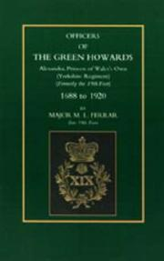 Cover of: Officers of the Green Howards | M. L. Ferrar