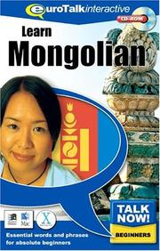 Cover of: Talk Now! Mongolian | Topics Entertainment
