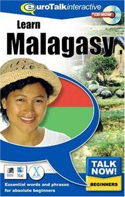 Cover of: Talk Now! Malagasy | Euro Talk Interactive