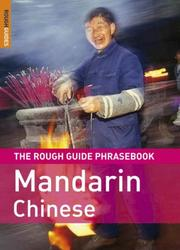 Cover of: The Rough Guide to Mandarin Chinese Dictionary Phrasebook 3