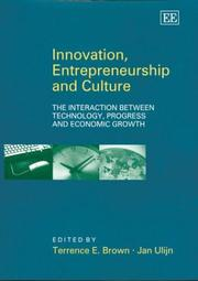 Cover of: Innovation, Entrepreneurship and Culture |