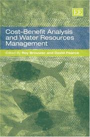 Cover of: Cost-benefit analysis and water resource management