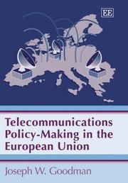 Cover of: Telecommunications policy-making in the European Union