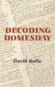 Cover of: Decoding Domesday | David Roffe