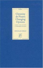 Cover of: Christine de Pizan's changing opinion
