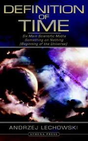 Cover of: Definition of Time