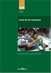 Cover of: Trade for development