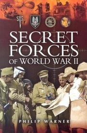 Cover of: Secret forces of World War II | Philip Warner