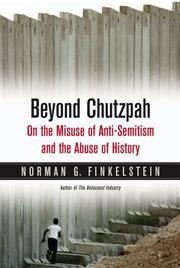 Cover of: Beyond Chutzpah | Norman Finkelstein