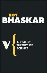 Cover of: A Realist Theory of Science (Radical Thinkers)