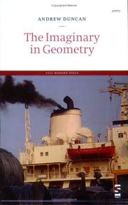 Cover of: The Imaginary in Geometry (Salt Modern Poets) | Andrew Duncan
