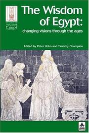 Cover of: The wisdom of Egypt |