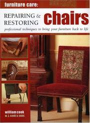 Cover of: Repairing and Restoring Chairs | W. J. Cook