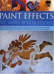 Cover of: Paint Effects for Walls and Surfaces
