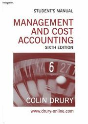 Cover of: Management and Cost Accounting | Colin Drury
