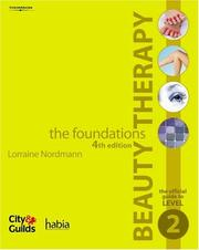Cover of: Beauty Therapy - The Foundations