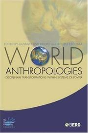 Cover of: World anthropologies |