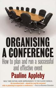 Cover of: Organising a Conference