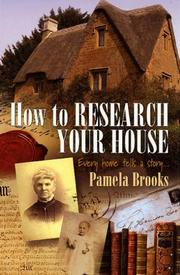 Cover of: How to Research Your House