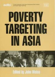 Poverty Targeting In Asia by John Weiss