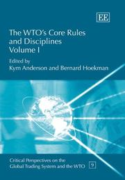 Cover of: The WTO's core rules and disciplines