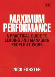 Cover of: Maximum Performance | Nick Forster