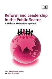 Cover of: REFORM AND LEADERSHIP IN THE PUBLIC SECTOR: A POLITICAL ECONOMY APPROACH