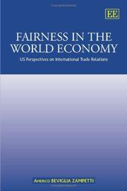 Cover of: Fairness in the World Economy