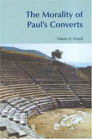 Cover of: The Morality Of Paul's Converts (Bibleworld) (Bibleworld)
