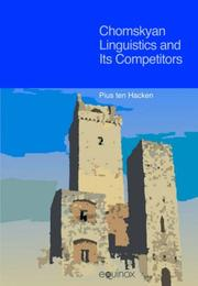 Cover of: Chomskyan Linguistics and Its Competitors | Pius Ten Hacken
