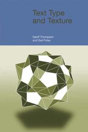 Cover of: Text Type and Texture (Functional Linguistics)