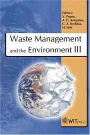 Cover of: Waste Management And the Environment III (Wit Transactions on Ecology and the Environment) |