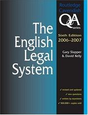 Cover of: English Legal System Q&A 2006-2007 6/e (Routledge Cavendish Q & a)