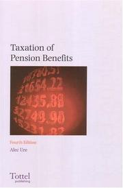 Cover of: Taxation of Pension Benefits