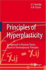 Cover of: Principles of Hyperplasticity | G.T. Houlsby