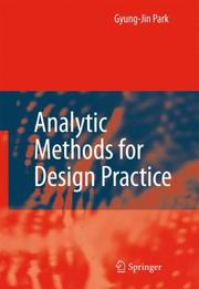 Cover of: Analytic Methods for Design Practice | Gyung-Jin Park