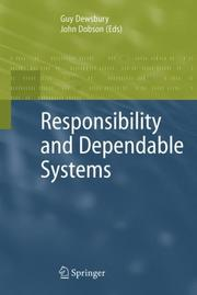 Cover of: Responsibility and Dependable Systems |