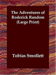 Cover of: The Adventures of Roderick Random (Large Print) | Tobias Smollett