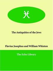 Cover of: The Antiquities of the Jews
