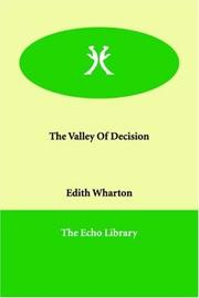 Cover of: The Valley of Decision | Edith Wharton