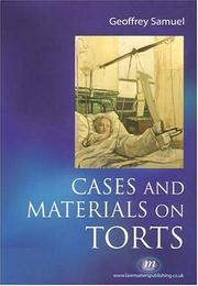 Cover of: Cases And Materials on Torts (Textbooks)