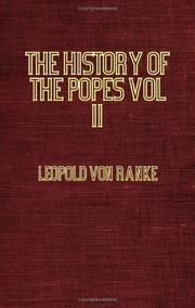 Cover of: The History Of The Popes Vol II 1589 - 1689